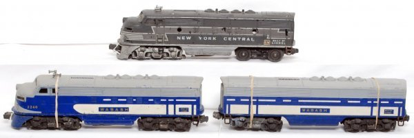 19: Lionel 2240 Wabash A-B and NYC F3