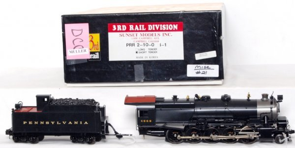 112: Sunset Models 3rd Rail brass PRR 2-10-0 I-1 in OB - 2