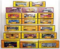 436 Twenty MTH Rail King freight cars in OB