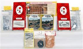 712: HO scale layout building kits, materials, more