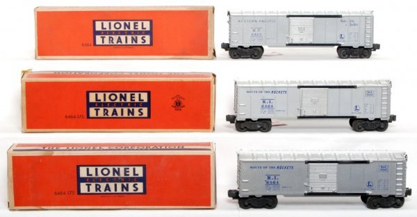 803: Two Lionel 6464-175 RI and 6464-1 WP, OB