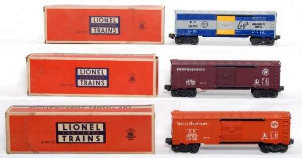 805: Lionel 6464-150 MP, 6464-200 PRR, 6464-25 OB