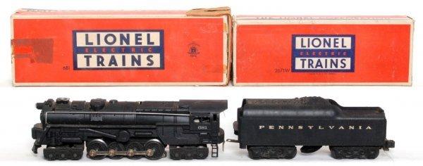 807: Lionel 681 steam turbine, 2671W PRR tender, OB