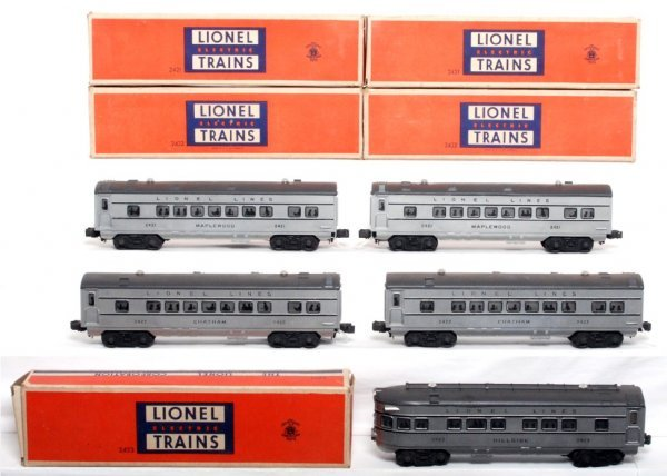 808: Lionel 2421, 2421, 2422, 2422 and 2423, OB