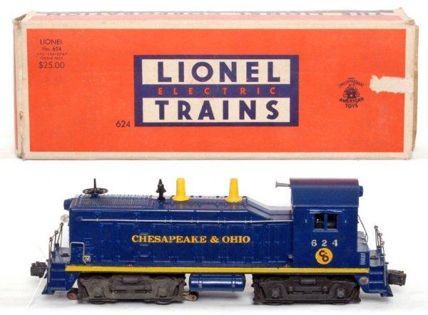 809: Lionel 624 Chesapeake and Ohio switcher, OB