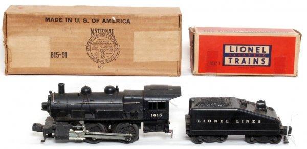 818: Lionel 1615 steam locomotive, 1615T tender