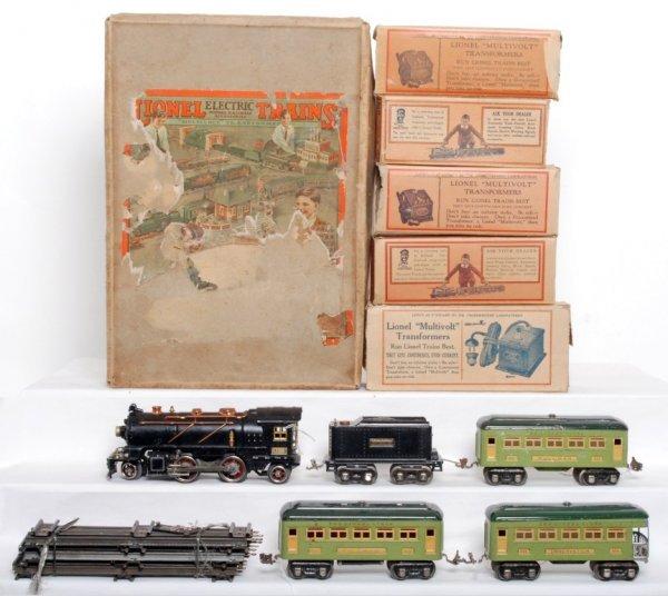 820: Lionel prewar 236 boxed 261 steam set, apple