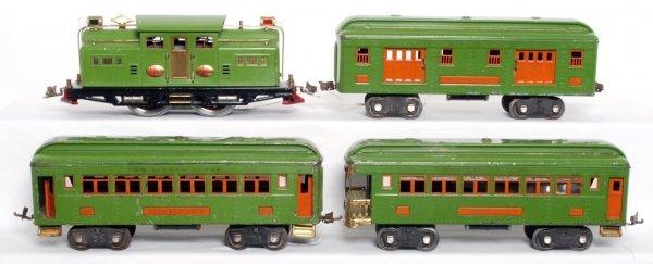 823: LIonel prewar SG 318E, 309, 310, 312 green
