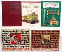 844 Five prewar toy train books Lionel