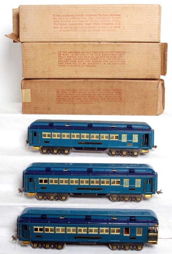925: Lionel prewar standard gauge Blue Comet cars