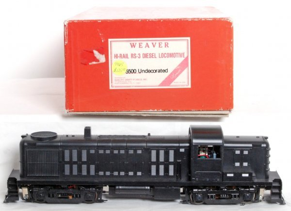 5: Weaver 5500 undecorated RS-3 diesel switcher