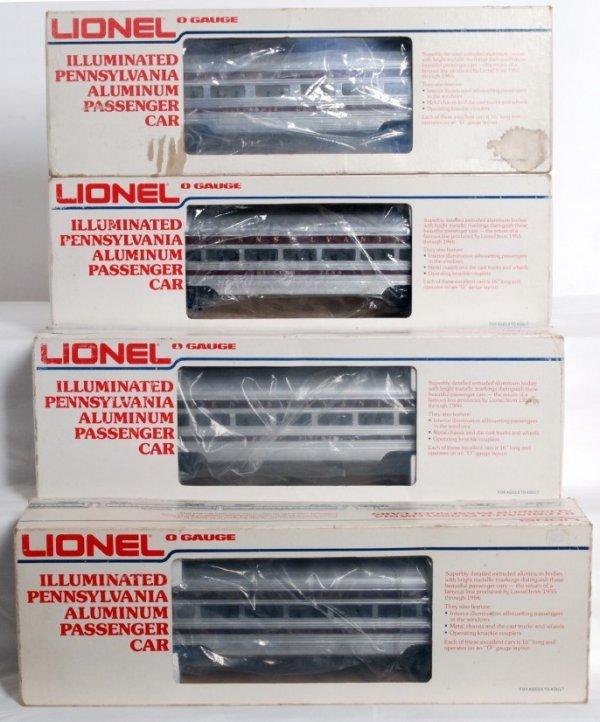 11: Lionel 9571, 9572, 9574, 9575 aluminum passenger