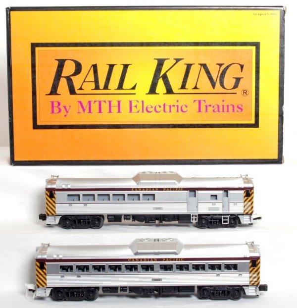 12: MTH Rail King Canadian Pacific RDC BUDD cars
