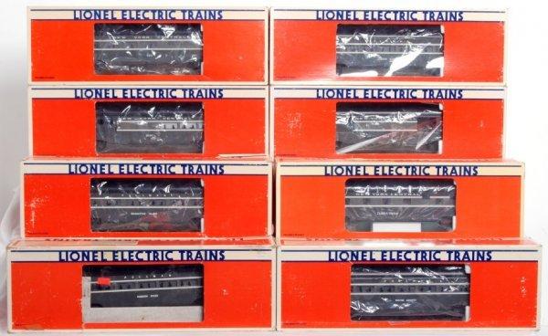 13: Eight Lionel aluminum passenger cars in OB