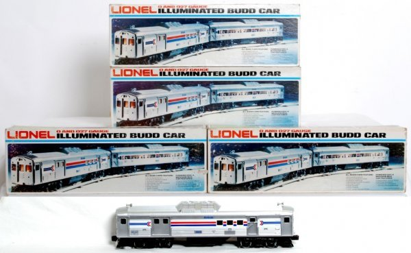 17: Lionel 8868, 8869, 8870, 8871 Amtrak RDC cars