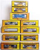49 Eleven MTH Rail King freight cars in OB