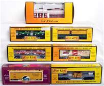 140 MTH Rail King freight cars and Esso Gas Station