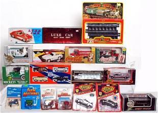 526: Box full of Beanie Babies, diecast cars, more