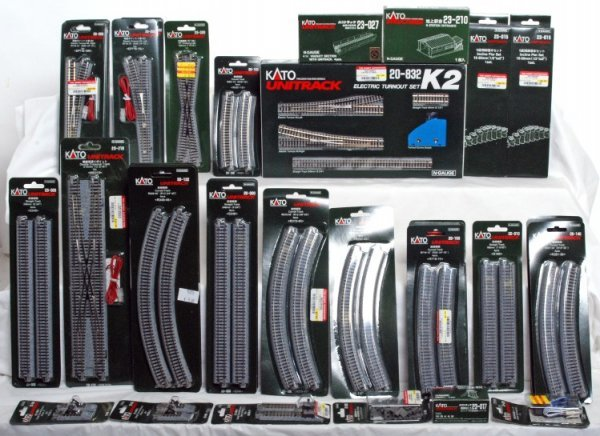 582: Massive lot of Kato N scale track and switches