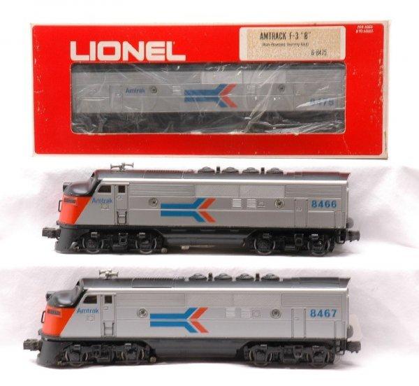 13: Lionel 8466/8475/8467 Amtrak ABA Units LN