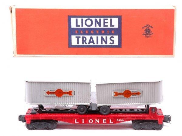 503: Lionel 6430 Flatcar w/Cooper-Jarrett Vans MINT OB