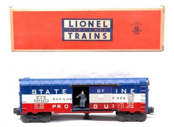 504: Lionel Postwar 3494-275 Operating Boxcar LN OB