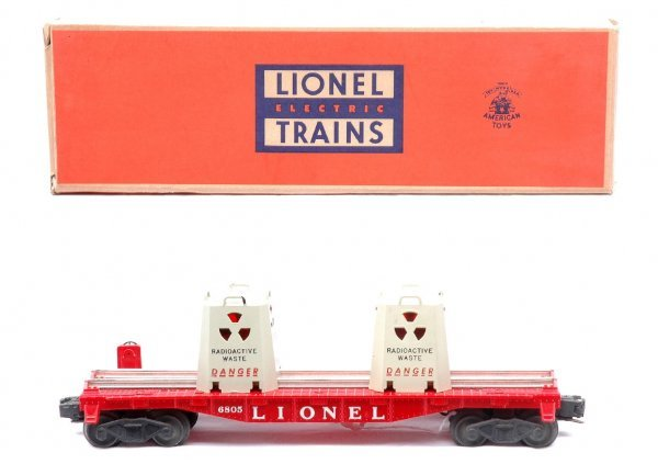 510: Lionel 6805 Atomic Energy Disposal Car LN OB