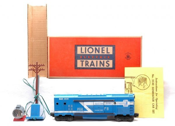 511: Lionel 3530 Operating Generator Car MINT Boxed