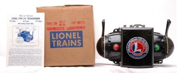 518: Lionel Type ZW 275-Watt Transformer LN OB