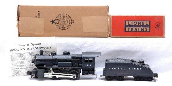 521: Lionel 1615 Steam Loco 1615T Tender MINT OBs