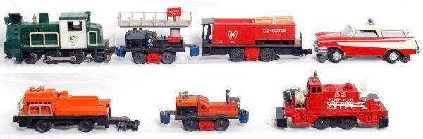 8: Seven postwar Lionel motorized units