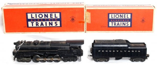 9: Lionel 671 loco and 2046W tender in OB