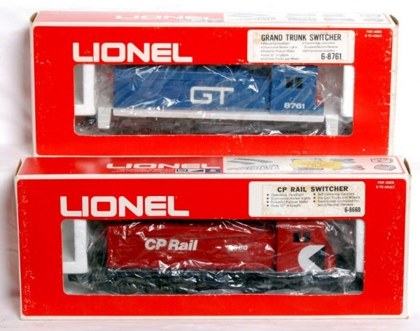11: Lionel 8761 GT and 8660 CP Rail switchers in OB