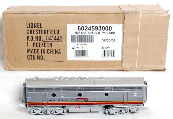 12: Lionel 24593 Santa Fe F7 B unit TMCC, R.S. 5.0
