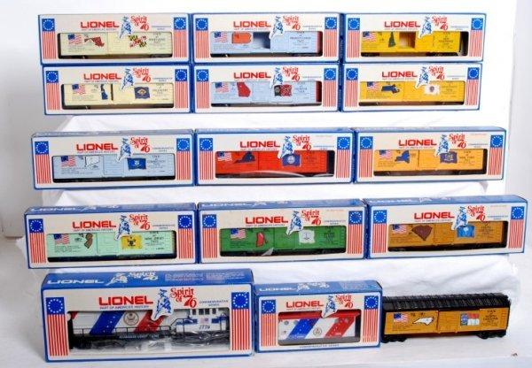 18: Lionel Spirit of Ô76 loco, boxcars, caboose in OB