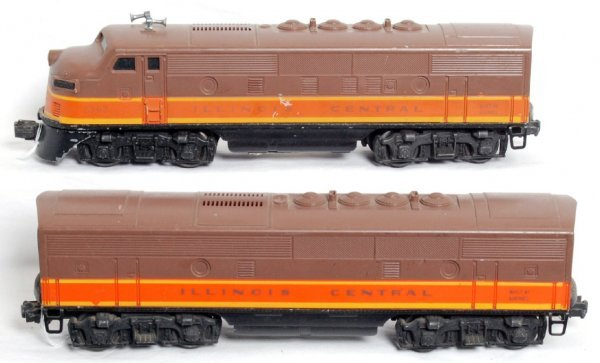 21: Lionel 2363 Illinois Central F3 diesel A-B units