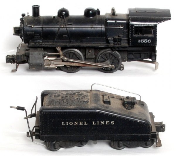 23: Lionel 1656 0-4-0 loco and 6403B tender