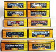 352 Nineteen MTH Rail King freight cars in OB