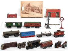 412: Ives, Marx, American Flyer trains and parts