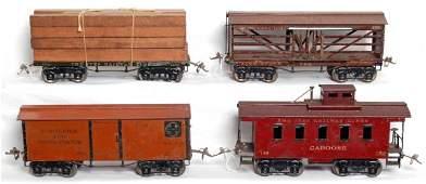 1007: Four Ives prewar standard gauge freight cars