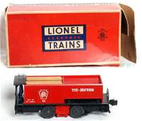 1123: Harder to find Lionel 55 tie-jector w/slot in OB