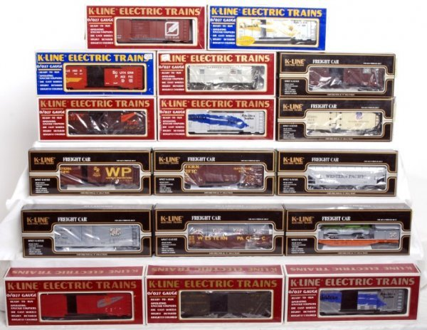 18: Lot of 17 K-line rolling stock