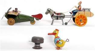 204 Windup tin toys Ferdinand Strauss Mail plane