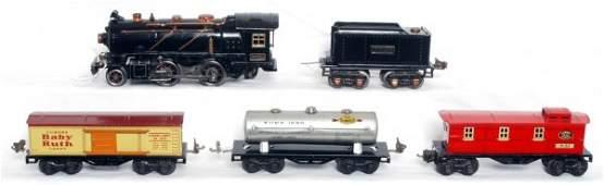 303: Lionel prewar 262E loco, 262T, 1679, 1680, 1682