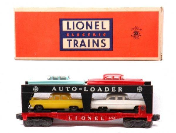 1: Lionel 6414 Automobile Car w Four Cars LN OB