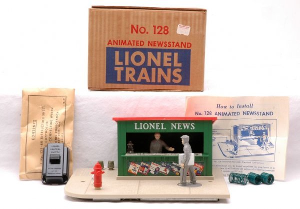 2: Lionel Postwar 128 Animated Newsstand MINT Boxed
