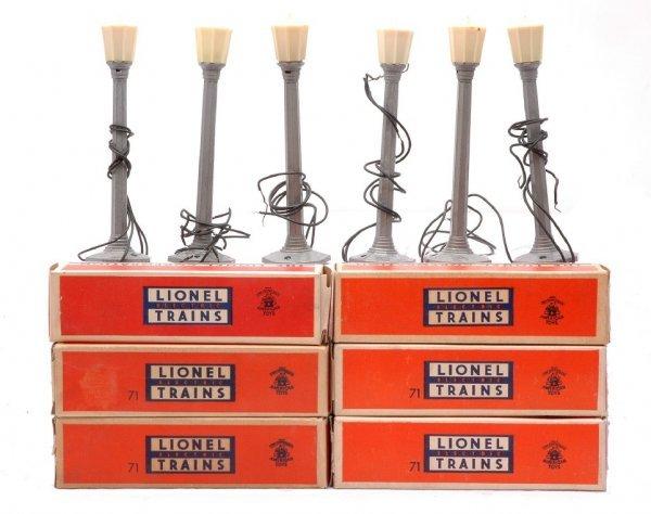 4: Lionel six 71 Lamp Posts MINT Boxed
