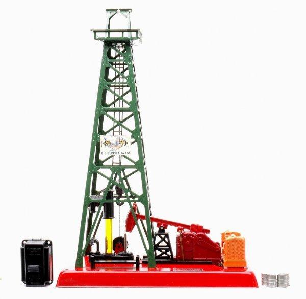 21: Lionel 455 Dark Green Operating Oil Derrick