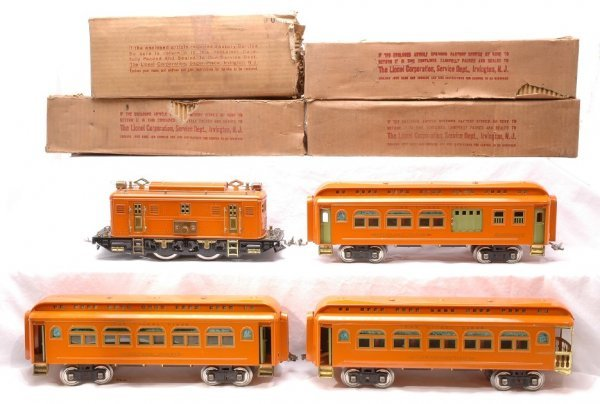 400: Lionel Orange PO50 Pass Set 9U 429 428 430 LN OBs