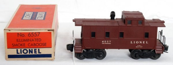 5: Lionel 6557 smoking caboose, OB - 2